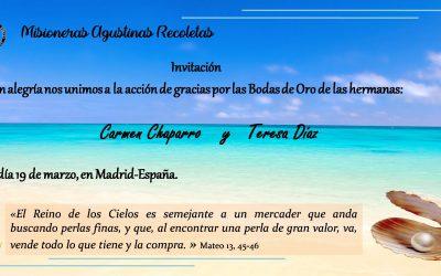 INVITACIÓN: 50 AÑOS DE VIDA CONSAGRADA