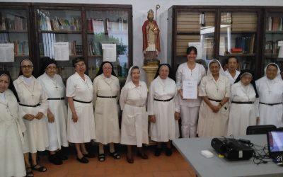 ENTREGA DE TESIS DOCTORAL LAUREADA SOBRE LAS PARTITURAS DE LA MERCED DE CALI A LA COMUNIDAD MAR DE DICHO CONVENTO