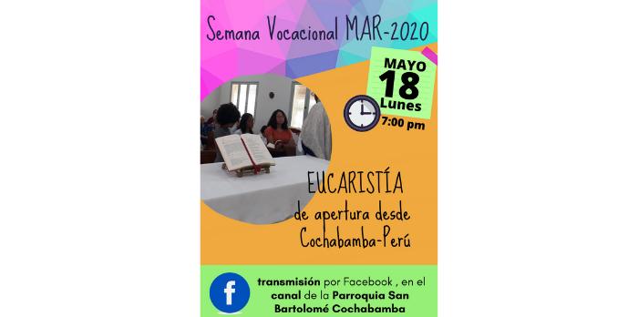 EUCARISTÍA DE APERTURA A LA SEMANA VOCACIONAL MAR