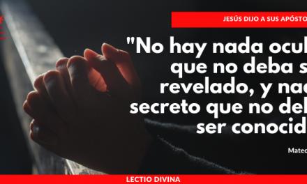LECTIO DIVINA. XII DOMINGO DEL TIEMPO ORDINARIO – CICLO A
